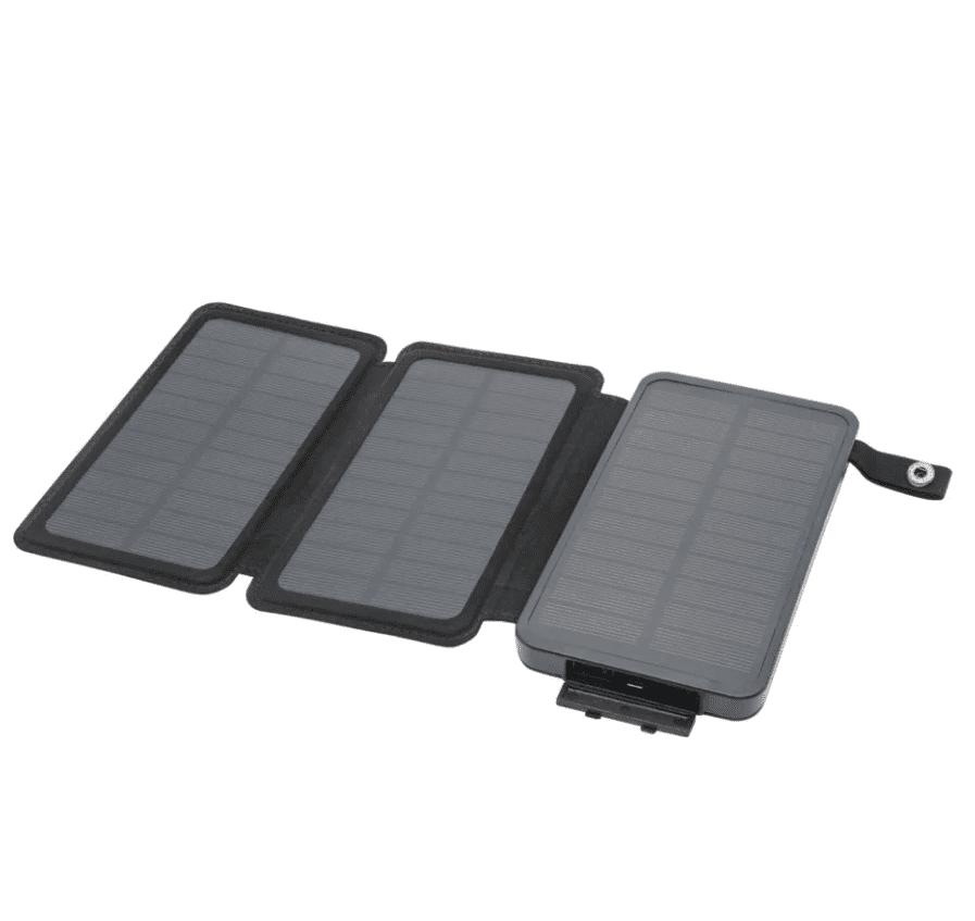 Linocell Powerbank med solcellsladdning 8000 mAh